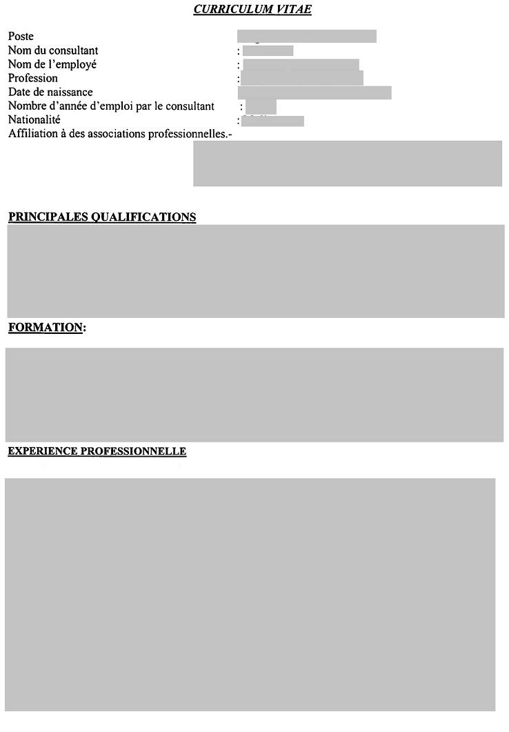 modele de cv a remplir et imprimer eRegulations Mali modele de cv a remplir et imprimer