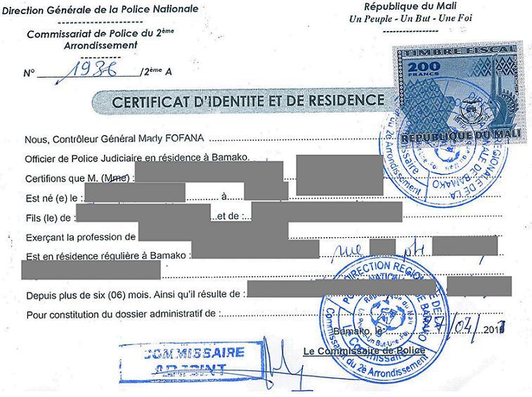 Eregulations mali - Certificat d heredite avec porte fort ...