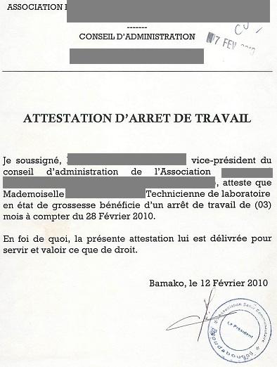 Arret Travail Declaration Caf