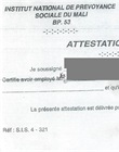 Attestation de service