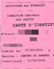 Carte d'Identification Fiscale